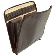 Leather Folder - Dark Brown