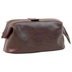 Leather Beauty Case - Dark Brown