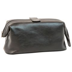 Leather Beauty Case - Black