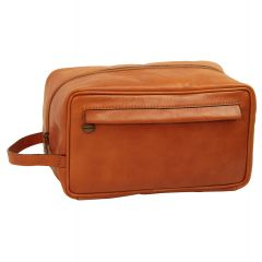 Full-grain calfskin leather beauty case coloniale- 078989CO