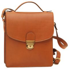 Classica II Leather Satchel - Brown Colonial