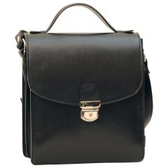 Classica II Leather Satchel - Black