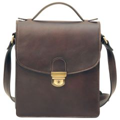 Classica II Leather Satchel - Dark Brown