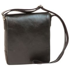 Leather Satchel Bag for I-Pad - Black