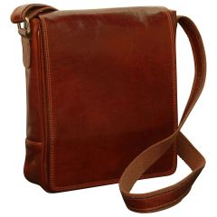 Leather Satchel Bag for I-Pad - Brown
