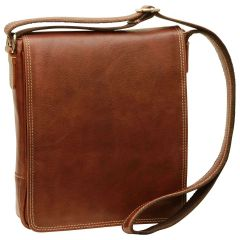 Leather I-Pad bag - Chestnut