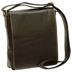 Leather I-Pad bag - Black