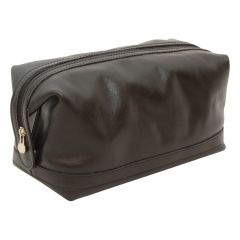 Calfskin Leather Beauty Case - Black