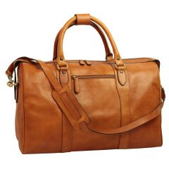 Travel Bag with shoulder strap – Brown colonial