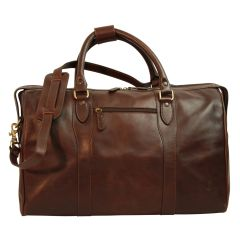 Travel Bag with shoulder strap - Dark Brown