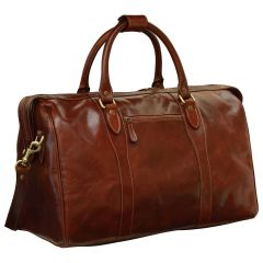 Travel Bag with shoulder strap - Brown