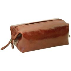 Cowhide beauty case - Brown