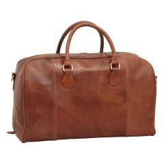 Leather Duffel Bag - Brown