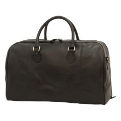 Leather duffel bag - Black
