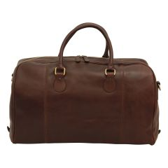 Leather Duffel Bag - Dark Brown