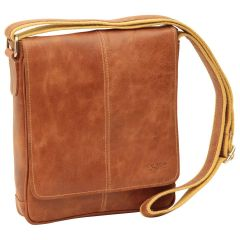 Oiled Calfskin Leather Satchel Bag - Brown Colonial