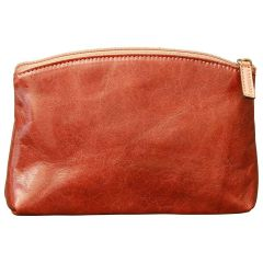 Cowhide leather beauty case - Brown