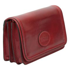 Leather pochette - red