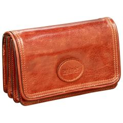 Leather pochette - Brown