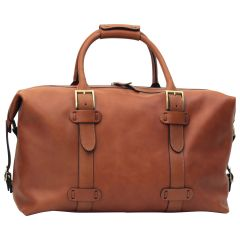 Cowhide leather Travel Bag - Brown Colonial