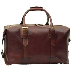 Cowhide leather Travel Bag - Brown