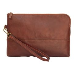 Full grain calfskin document case - brown