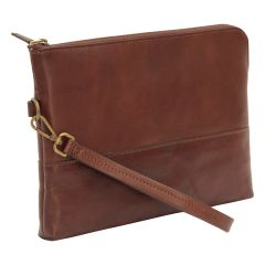 Full grain calfskin document case - dark brown