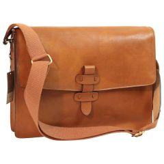 Messenger in pelle. Marrone Coloniale