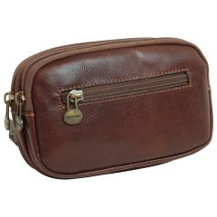 leather belt bag - brown