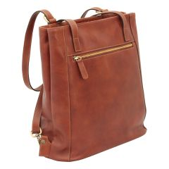 Leather backpack / shoulder bag 413793MA