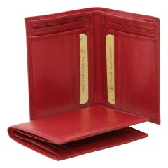 Leather wallet - red