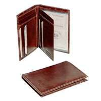 Three Part Leather Wallet - Brown