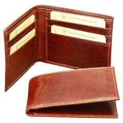 Bifold wallet with RFID blocking technology- Brown