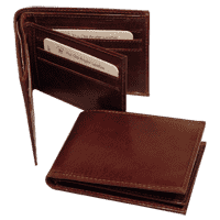 Leather wallet for men - Brown