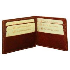 Porta carte in vera pelle - Marrone
