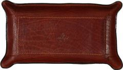 Leather Desk Tray - Brown