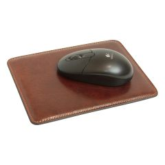 Mouse pad in pelle. Marrone