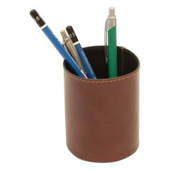 Leather pen cup