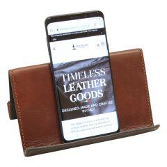 Supporto in pelle per ipad e iphone