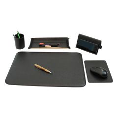 Leather desk kit - 5 pcs black