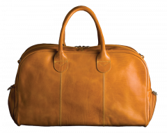 All-In-One Golf leather bag - Mustard