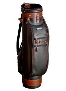 Selective Leather Golf Bag - Black/Brown